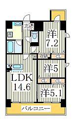 仮)おおたかの森西口マンション[7階]の間取り