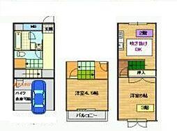 神奈川県伊勢原市白根の賃貸アパートの間取り