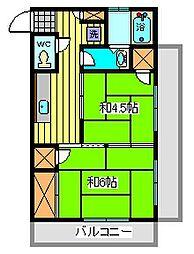 大后ビル[3階]の間取り