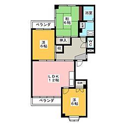 ドミール94[1階]の間取り
