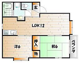 サンパティークYS A棟[2階]の間取り