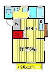 コアハイム[1階]の間取り