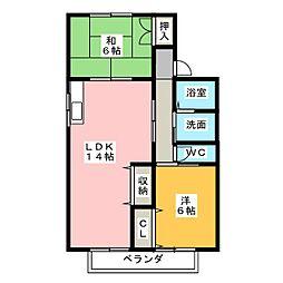 ガーデンホームズ[2階]の間取り