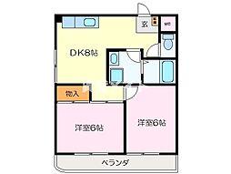 サンスカイ細II[1階]の間取り