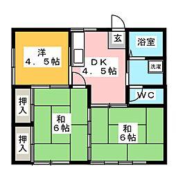 第二コーポ小幡[1階]の間取り