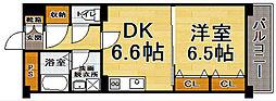 福岡県福岡市博多区豊1丁目の賃貸マンションの間取り