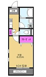 埼玉県所沢市久米の賃貸アパートの間取り