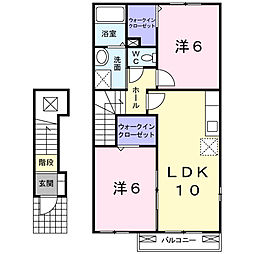 プリマヴェーラ東館[2階]の間取り