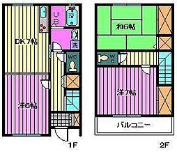 [テラスハウス] 埼玉県川口市元郷6丁目 の賃貸【/】の間取り