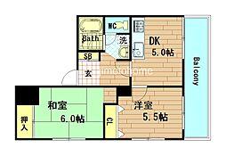 ロイヤルハイツ江戸堀西公園[7階]の間取り