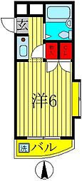 ジュネパレス新松戸第06[4階]の間取り