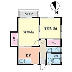 神奈川県横浜市泉区和泉が丘2丁目の賃貸アパートの間取り