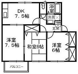 アエル乙島A[2階]の間取り