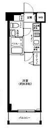 東京都中野区弥生町2丁目の賃貸マンションの間取り