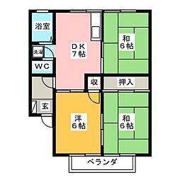 アベニュ−Ⅱ[2階]の間取り