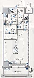 都営大江戸線 両国駅 徒歩7分の賃貸マンション 9階1Kの間取り