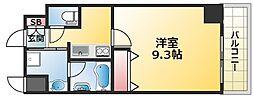 HK Residence 2階1Kの間取り