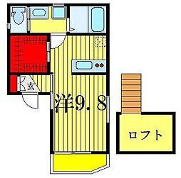 LESTE[3階]の間取り