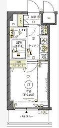 東京都大田区矢口3丁目の賃貸マンションの間取り