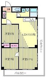 神奈川県横浜市神奈川区新子安1丁目の賃貸マンションの間取り