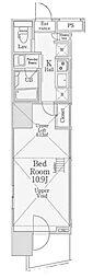 信栄タワー[5階]の間取り