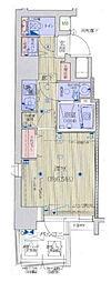 Osaka Metro谷町線 天満橋駅 徒歩7分の賃貸マンション 2階1Kの間取り