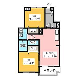 フィオーレYS[1階]の間取り