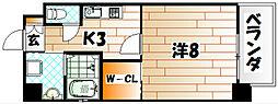 ハーヌルNakai[2階]の間取り