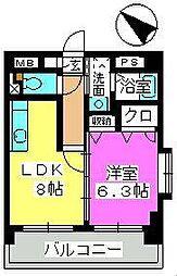 第38川崎ビル(旧ファインエース中尾)[2階]の間取り