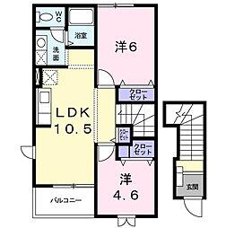 横浜市都筑区池辺町 ウィスティリア[2階]の間取り