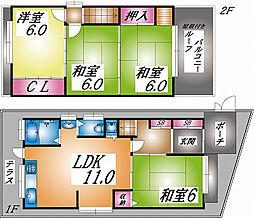 [一戸建] 兵庫県神戸市垂水区舞子台1丁目 の賃貸【/】の間取り