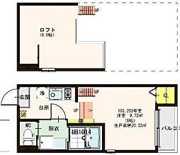 仮称)ハーモニーテラス東淀川区東中島五丁目[103号室]の間取り