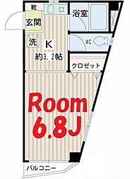 神奈川県横浜市鶴見区鶴見中央5丁目の賃貸マンションの間取り
