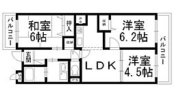 Ksマンション[0202号室]の間取り