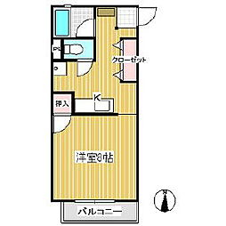 ピュアハイツ田園[2階]の間取り