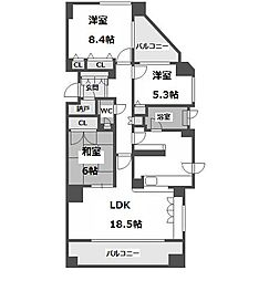 ヒルズ円山公園[5階]の間取り