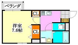 クオーレ薬円台[3階]の間取り