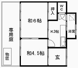 [一戸建] 静岡県浜松市中区上浅田2丁目 の賃貸【/】の間取り