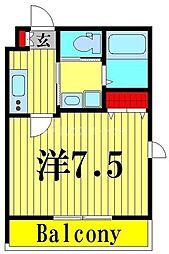 (仮称)舎人5丁目メゾン 3階1Kの間取り