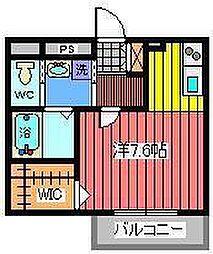 リバティ北浦和[2階]の間取り
