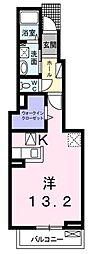 大阪府寝屋川市河北西町の賃貸アパートの間取り