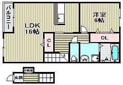 ラフレシール・メゾン[2階]の間取り