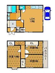 [一戸建] 東京都町田市玉川学園1丁目 の賃貸【/】の間取り