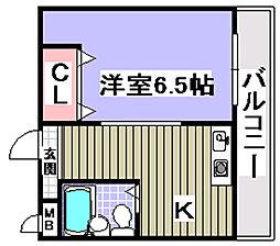 ボヌール伯太[3階]の間取り