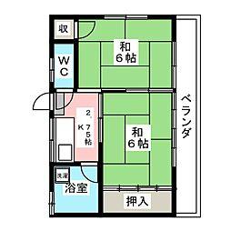 貝山荘[2階]の間取り