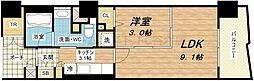 ロイヤルパークス桃坂[6階]の間取り