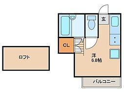 トロピカルソレイユ[1階]の間取り