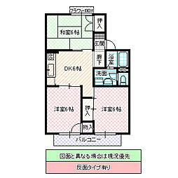 セジュール飯田[201号室号室]の間取り