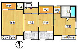 宮本セブン[1号室号室]の間取り
