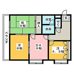 コーポラス塚田[1階]の間取り